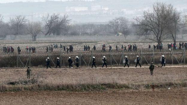 Türkiye sınırındaki Yunan güvenlik güçleri