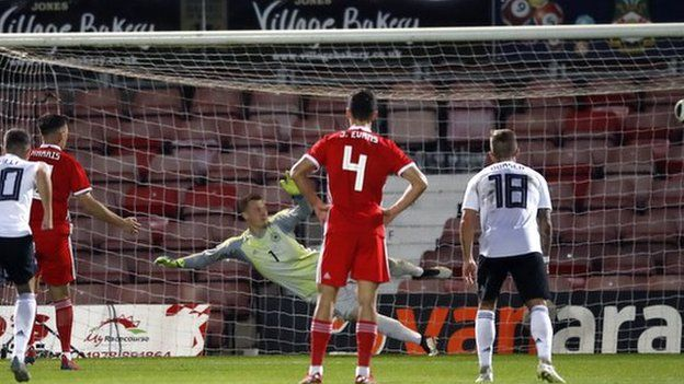 Mark Harris' penalty was Wales U21s' high point on a difficult night