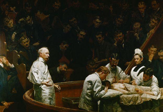 """Pintura """"A Clínica Agnew"""" (1889), de Thomas Eakins"""