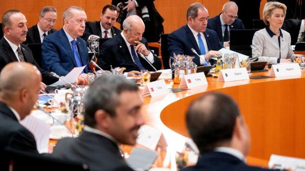 أردوغان في قمة برلين
