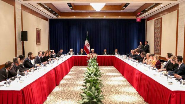 حسن روحانی در جمع مدیران رسانه های آمریکایی