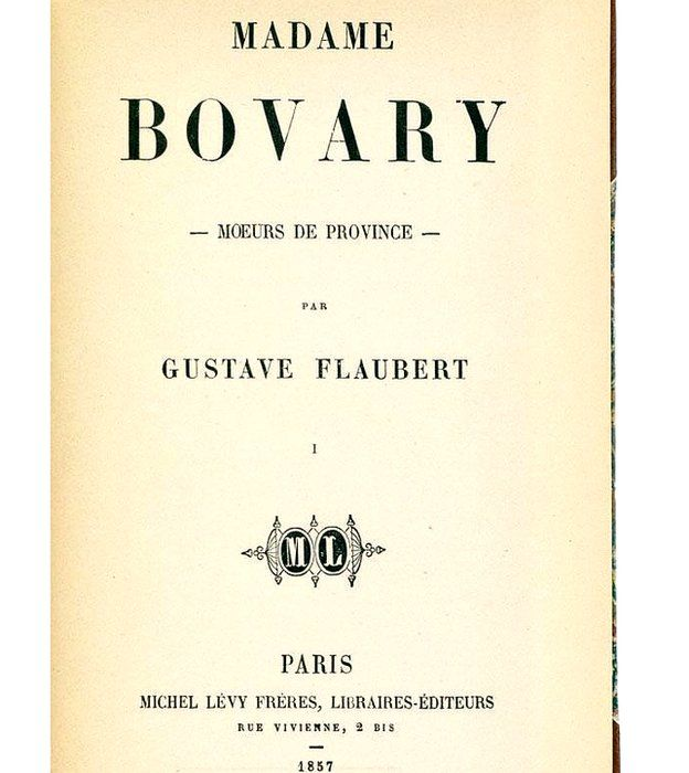 Primera edición de Madame Bovary
