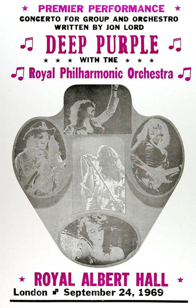 Афиша концерта Deep Purple c симфоническим оркестром в Royal Albert Hall