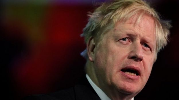 Boris Johnson hablando