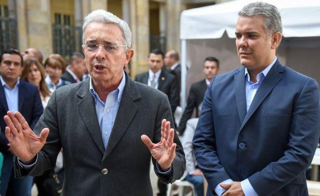 Uribe con Duque