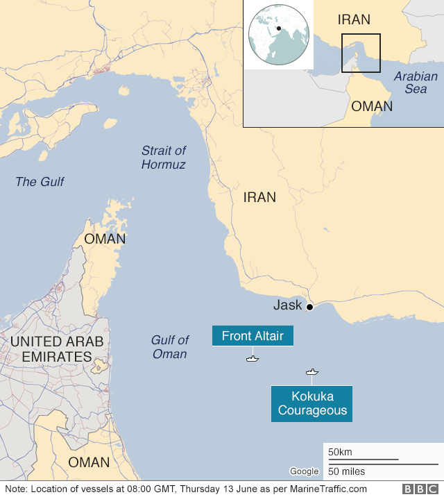 Gulf of Oman tanker attacks: US says video shows Iran