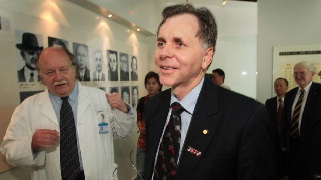 Barry Marshall de visita en China.