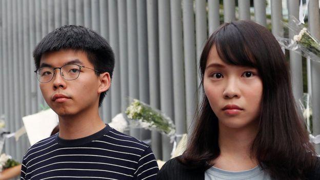 Joshua Wong và Agnes Chow đã được cho tại ngoại hầu tra