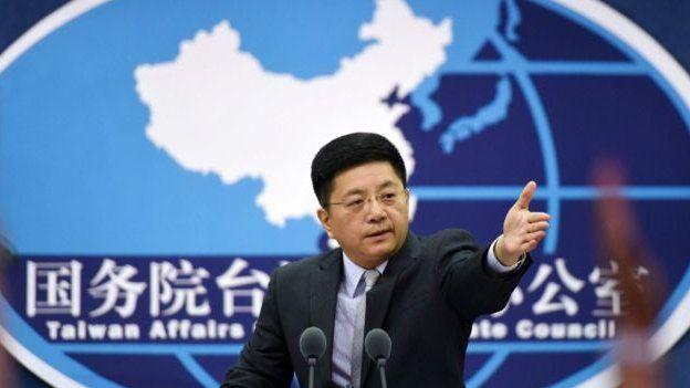 國台辦發言人馬曉光在例行記者會上回應提問