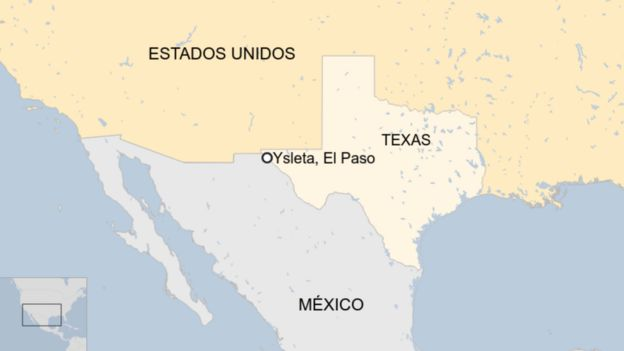 Mapa de Ysleta, El Paso, Texas