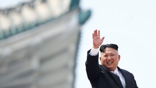 Kim Jong-un durante comemoração do
