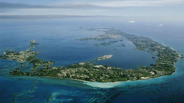 Vista aérea de Bermuda.