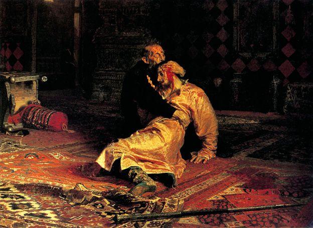 """Pintura de Ilya Repin, """"Iván el Terrible matando a su hijo"""" por Ilya Repin"""