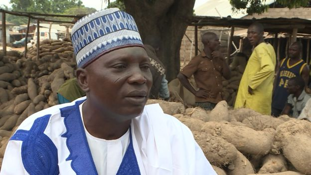 Saleh Adamu Asiri, a local yam trader