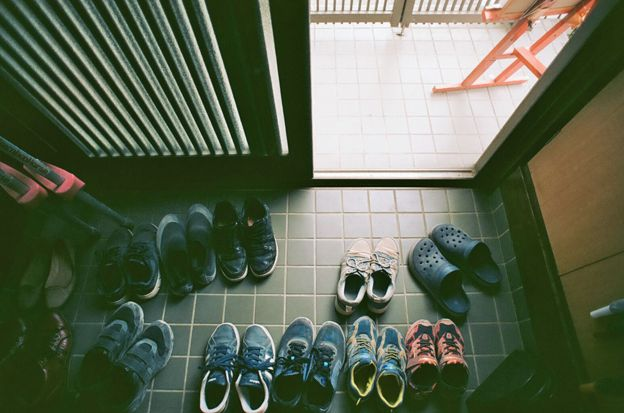 Shoes outside the free school