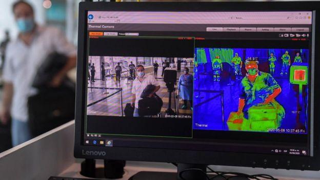 Termografía infrarroja en el aeropuerto de Panamá