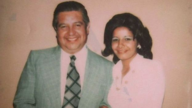 Ms Rivas and Manuel Contreras in a photo from the documentary Adriana's Pact