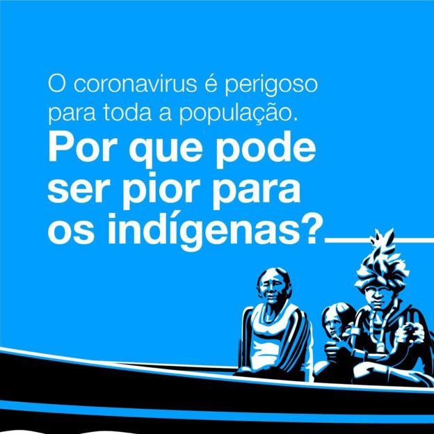 Publicidad de la APIB, la Confederación de Pueblos Indígenas de Brasil, sobre el coronavirus
