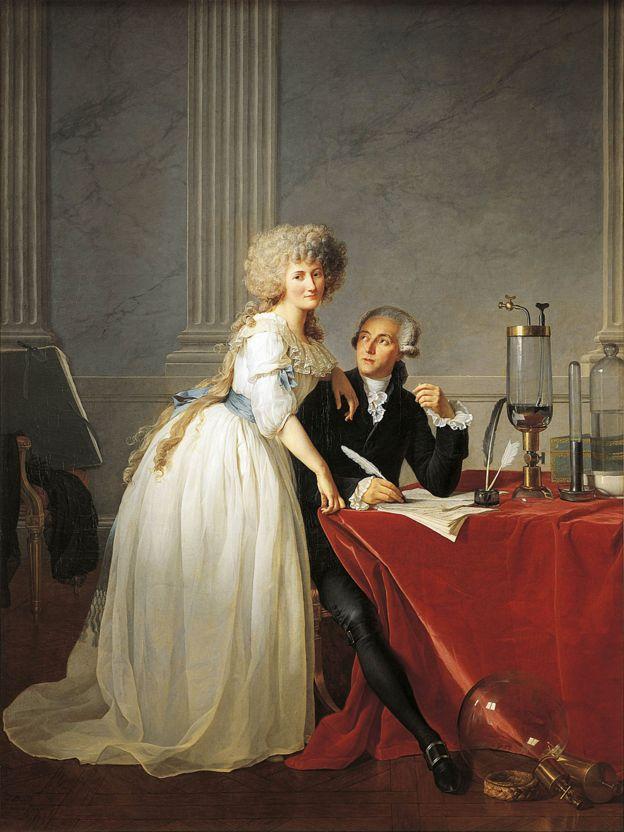 Retrato de Antoine Laurent Lavoisier (París, 1743-1794), químico francés, con su esposa, 1788, obra de Jacques-Louis David (1748-1825).