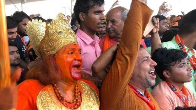 अलीगढ़ की रैली में भाजपा समर्थक