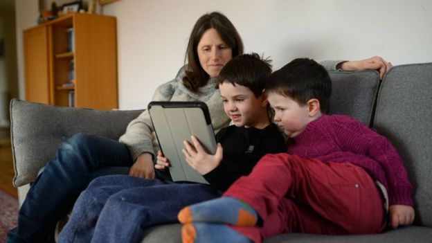 Families across the UK were coming to grips with homeschooling
