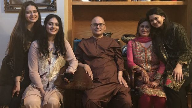 From left to right: Natasha, sister Nayha, baba Salman, mum Sadia and sister Soha.