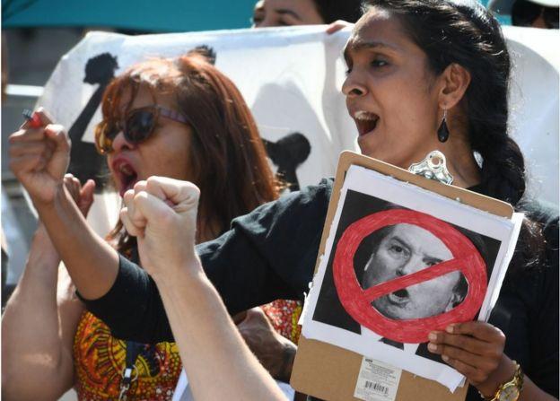 9月28日,洛杉磯當地反對卡瓦諾提名的人。