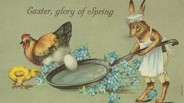 The odd world of victorian easter cards bbc news easter card m4hsunfo