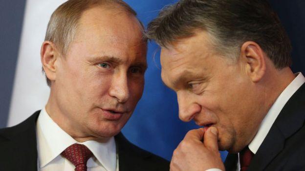 Vladimir Putin y Viktor Orbán.