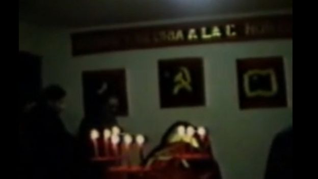 Captura de un video de YouTube del velorio de la camarada Norah