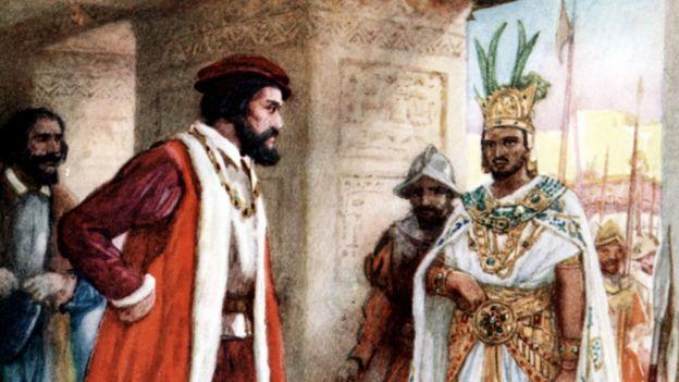 Encuentro entre Cortés y Moctezuma