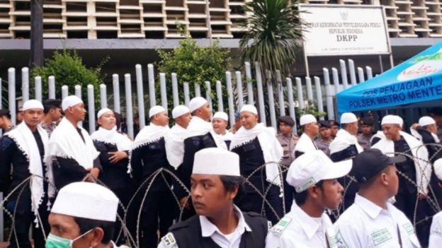 Demo pendukung Prabowo