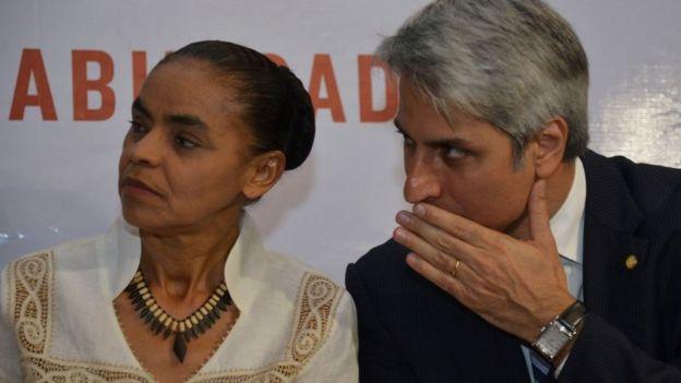 Marina Silva (esq.) e Alessandro Molon