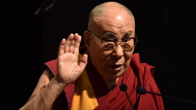 Dalai Lama - Exiled Tibetan spiritual leader the Dalai Lama delivers a speech during a function at Gauhati University in Guwahati on April 2, 2017
