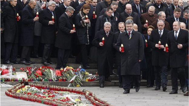 Tưởng niệm một năm ngày biểu tình đẫm máu tại quảng trường Maidan