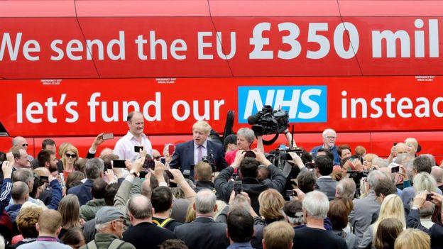 Johnson 2016'daki referandumda Brexit için kampanya yapmıştı