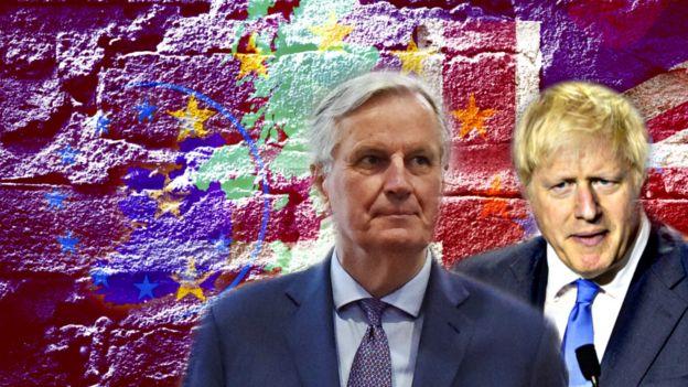 Michel-Barnier-map-of-Northern-Ireland-and-Boris-Johnson.