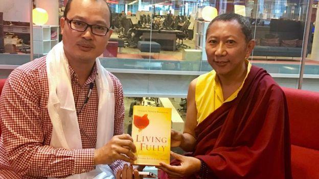 Nguyễn Giang và Shayalpa Tenzin Rinpoche