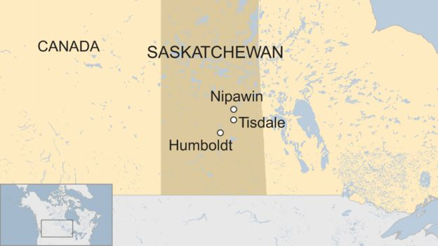 Map Of Canada Trackidsp 006.Canada Crash Country Mourns Humboldt Broncos Bus Dead Bbc News