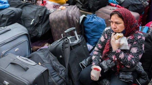 Muchos de estos peruanos quedaron sin trabajo por la crisis económica desatada en medio del coronavirus.