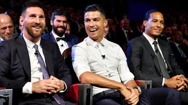 Cristiano Ronaldo, Lionell Messi, Virgil van Dijk