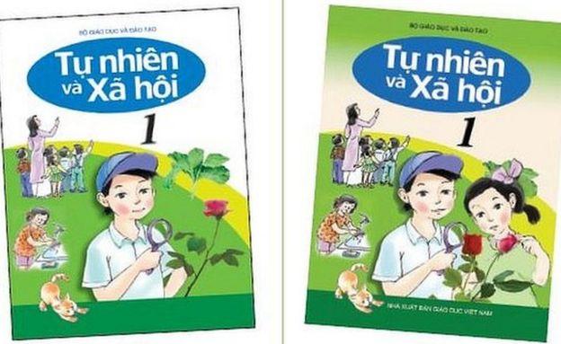 Un texto escolar vietnamita: antes y después.