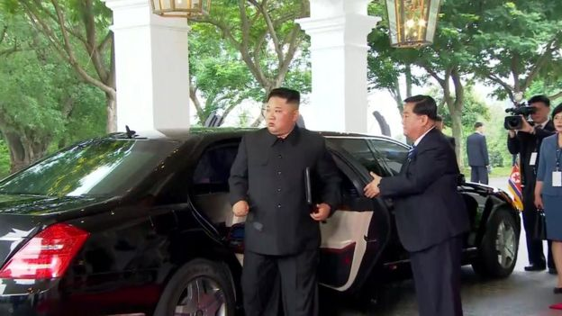 Kim arrives at summit venue