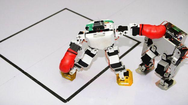 兩個機器人搏鬥