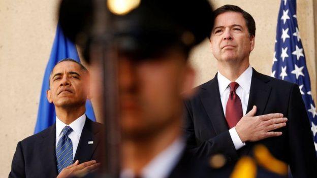 Comey ayaa agaasime noqday sannadkii 2013kii markaas oo uu xilka madaxweynenimada hayay Obama