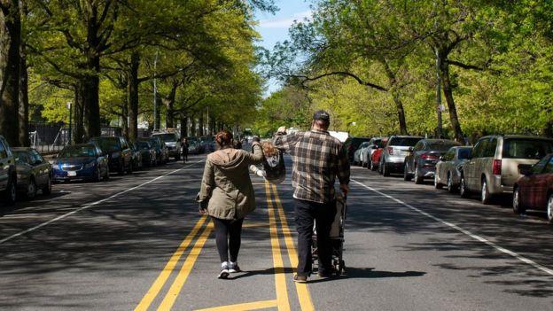 Открытая для пешеходов дорога в Бруклине