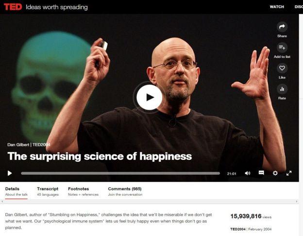 Dan Gilbert ofreciendo una TedTalk
