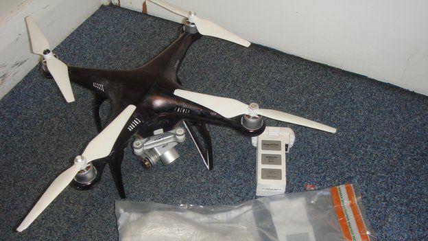 Drone crash-landing prison
