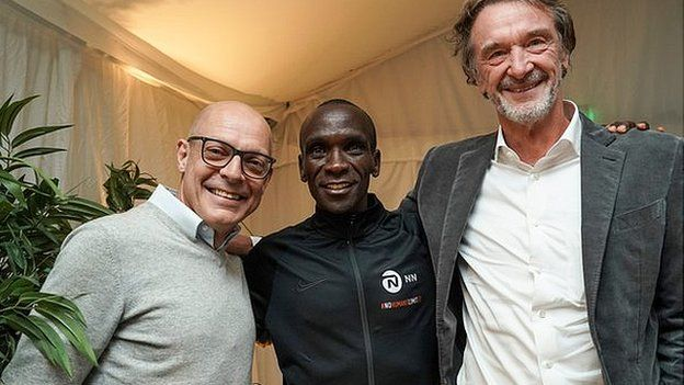 Dave Brailsford, Eliud Kipchoge and Jim Ratcliffe