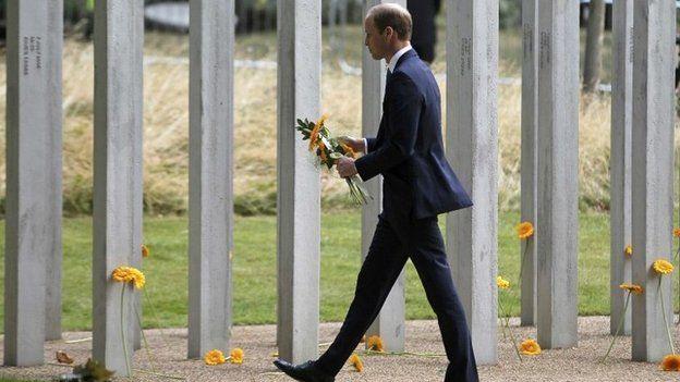 Prince William at the 7/7 memorial